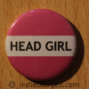 Pink Head Girl Button Badge