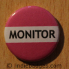 Pink Monitor Button Badge
