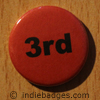 Red 3rd Button Badge