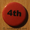Red 4th Button Badge