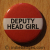 Red Deputy Head Girl Button Badge