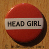 Red Head Girl Button Badge