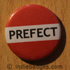 Red Prefect Button Badge