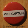 Red Vice Captain Button Badge