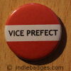 Red Vice Prefect Button Badge