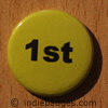 Yellow 1st Button Badge
