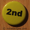 Yellow 2nd Button Badge