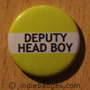 Yellow Deputy Head Boy Button Badge