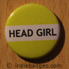 Yellow Head Girl Button Badge