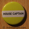 Yellow House Captain Button Badge