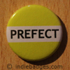 Yellow Prefect Button Badge