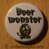 beer monster button badge