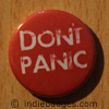 Dont Panic Button Badge