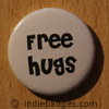 free hugs button badge