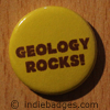 geology rocks button badge