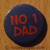 number 1 dad button badge