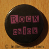 rock chick button badge