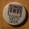 synth geek button badge