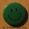 Green Traditional Smiley Face Button Badge