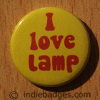 I Love Lamp Button Badge