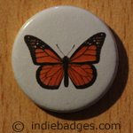Vintage Butterfly 8 Button Badge