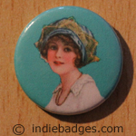 Vintage Woman 3 Button Badge