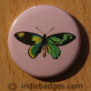 Vintage Butterfly 1 Button Badge