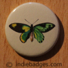 Vintage Butterfly 3 Button Badge